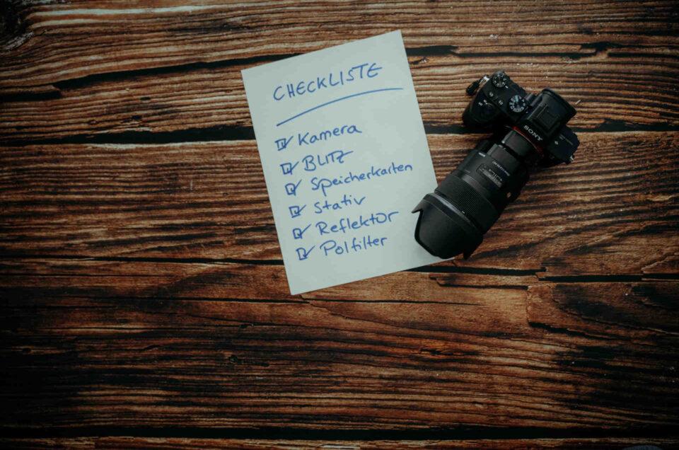 Checkliste Hochzeit Fotograf