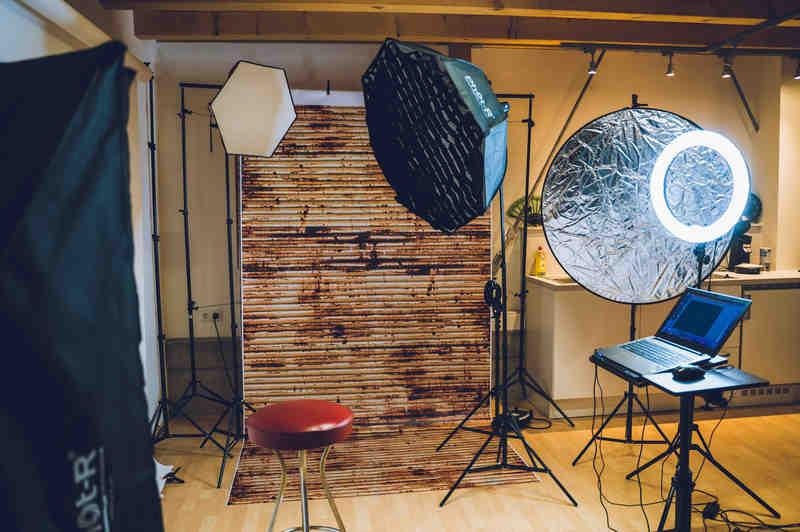 Fotograf eigenes Studio - Homestudio