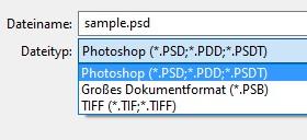 Photoshop speichern unter als JPG verschwunden